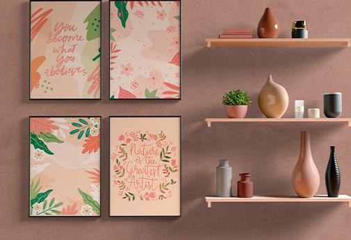 Arte para decoração de ambientes de casa