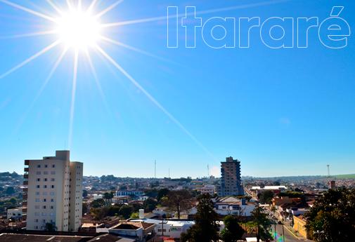 Vista panorâmica da cidade de Itararé